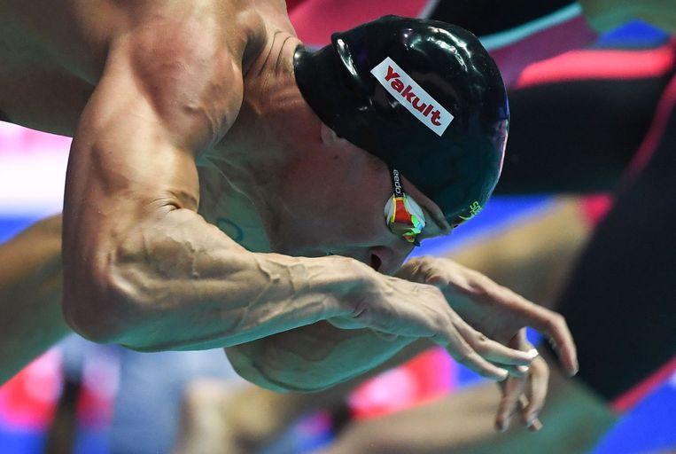 Pieter Timmers kon zich niet plaatsen voor de halve finales op de 50m vrije slag.
