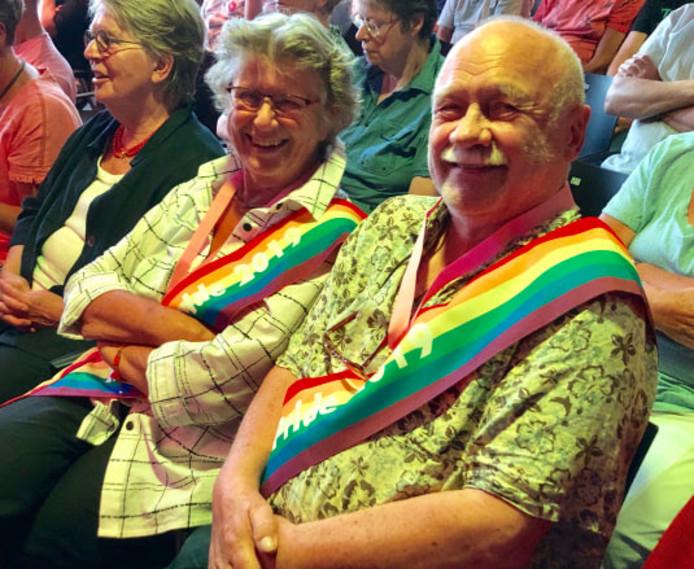 Marjet Bos uit Oldambt en Clem Bongers uit Nijmegen, Mrs en Mr Senior Pride 2019