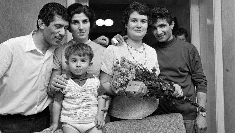 Turkse gastarbeiders in 1968 Beeld ANP