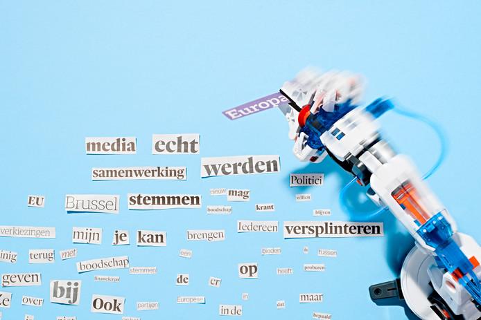Robotjournalistiek, illustratie: Rein Janssen