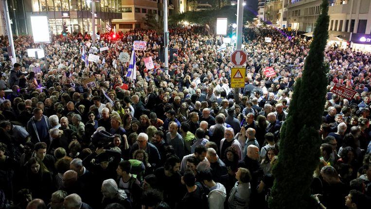 De mars van de schaamte in Tel Aviv. Beeld null