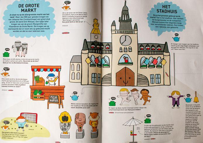 De dienst toerisme pakt uit met een spel- en speurboek voor kinderen, om op een speelse manier op ontdekking te gaan in Sint-Niklaas.