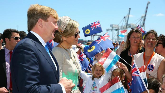 Willem-Alexander en Máxima in Australië