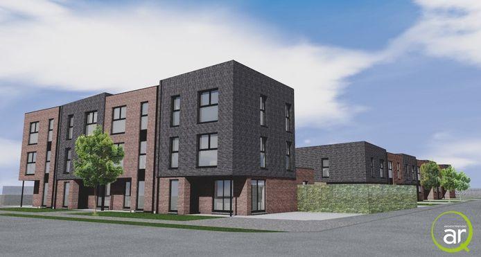 Een toekomstbeeld van de 11 huurwoningen in Bethaniënpolder