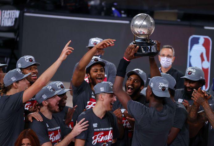 Miami Heat viert feest na het kampioenschap in de Eastern Conference.