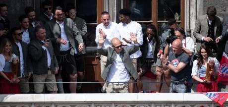 Robben bij huldiging in München: 'Het waren tien wonderschone jaren'