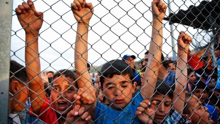Kinderen in het Nizip-vluchtelingenkamp.