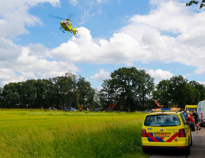 Ongeluk met een wielrenner in het buitengebied van Luyksgestel.