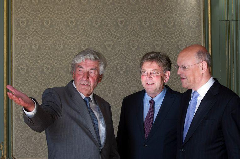 2010. Oud-informateurs Uro Rosenthal (rechts) en Jacques Wallage (midden) met informateur Ruud Lubber (links)  Beeld ANP