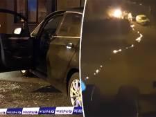 Man steekt auto en per ongeluk zichzelf in de fik, buurtbewoner filmt hoe hij al brandend wegloopt