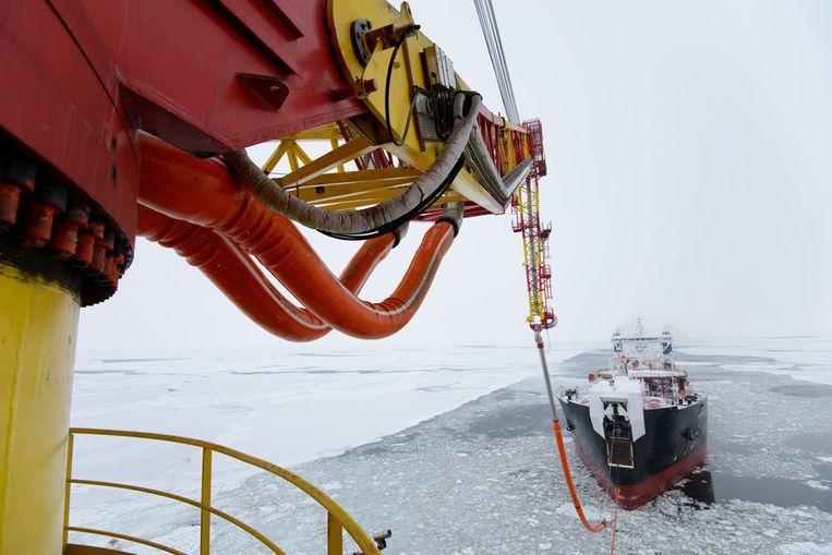 Voorbereiden voor het laden. Beeld Gazprom