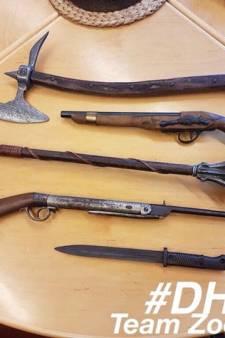 Verzameling van antieke wapens in beslag genomen
