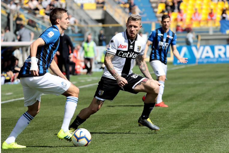 Castagne drijft op tegen Parma.