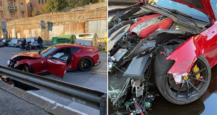La Ferrari accidentée de