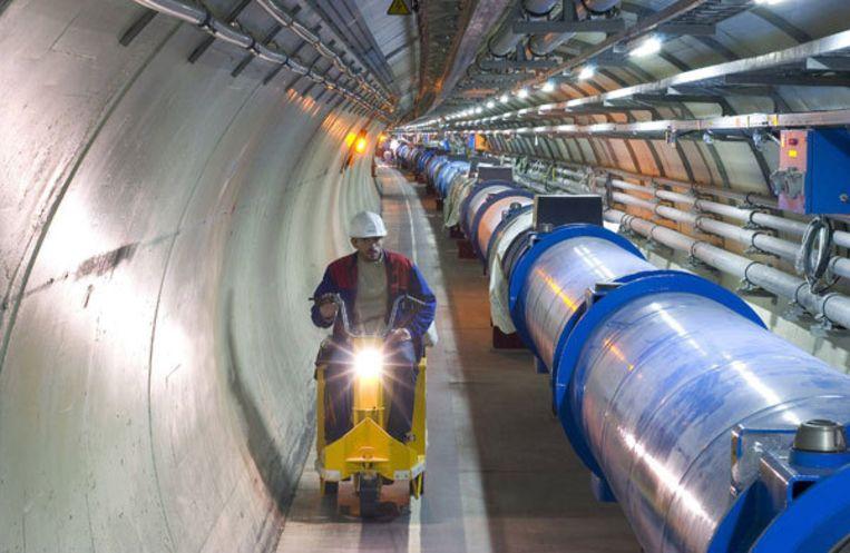 Een deel van de deeltjesversneller en de experimenten die eraan vastzitten, komen uit de Amsterdamse Watergraafsmeer; van onderzoeksinstituut Nikhef. Foto GPD Beeld