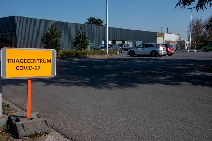 Zaal Skala in Laarne is ingericht als triagecentrum voor Covid-19 patiënten.