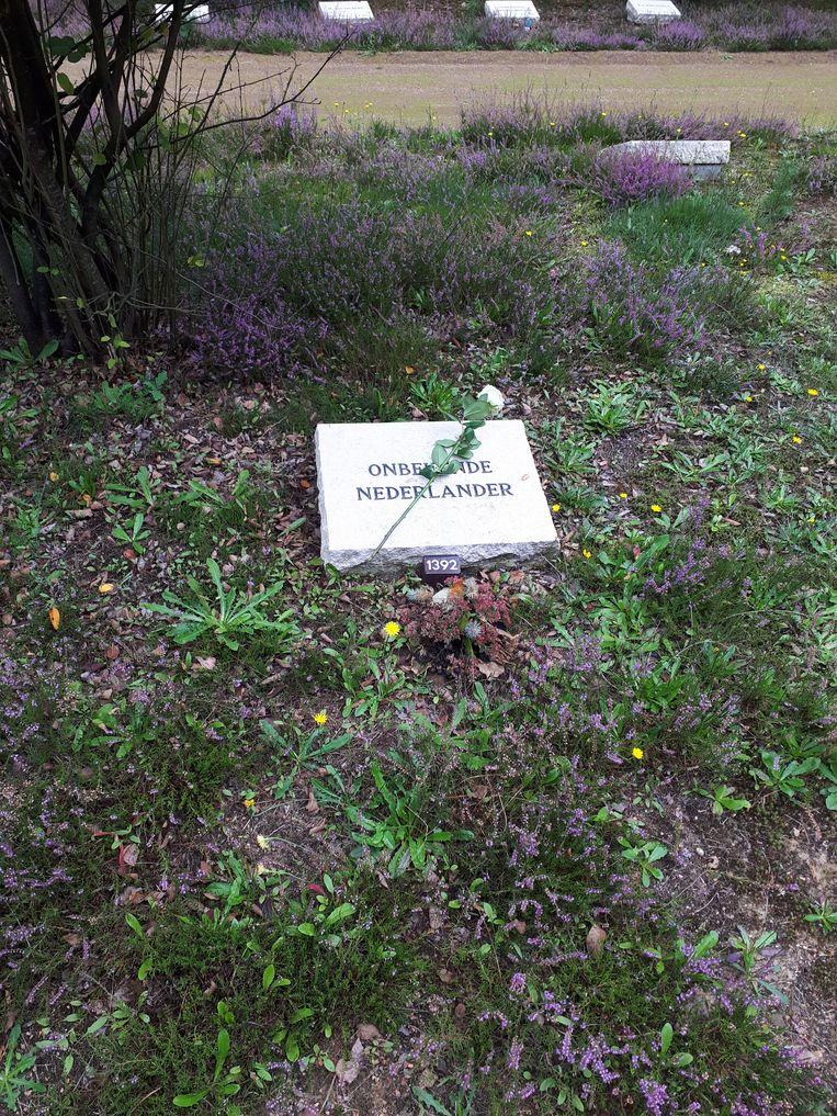 Graf E-1392, de plek waar Martinus Spoel decennialang anoniem begraven lag. Beeld Ellen de Visser