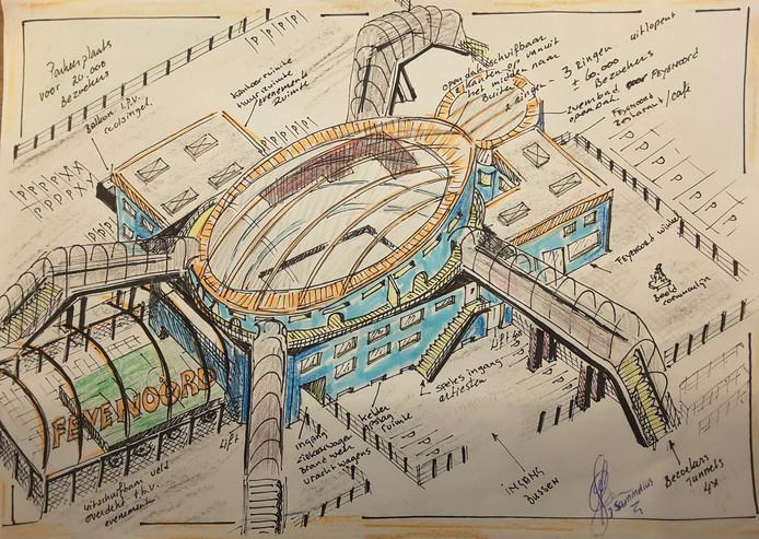 Aan alles is gedacht bij het ontwerp van John Sammelius uit Capelle aan den IJssel. Het veld is uitschuifbaar, handig als er in het stadion een groot evenement plaatsvindt. Aan de lange zijde bevindt zich zelfs een balkon, voor huldigingen bij een kampioenschap.