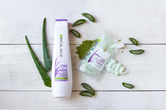 La gamme HydraSource de Biolage pour cheveux secs.