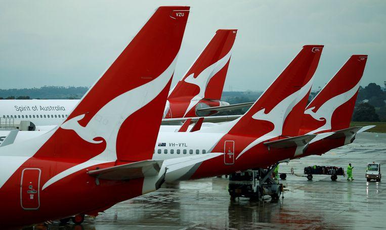 Vliegtuigen van Qantas.