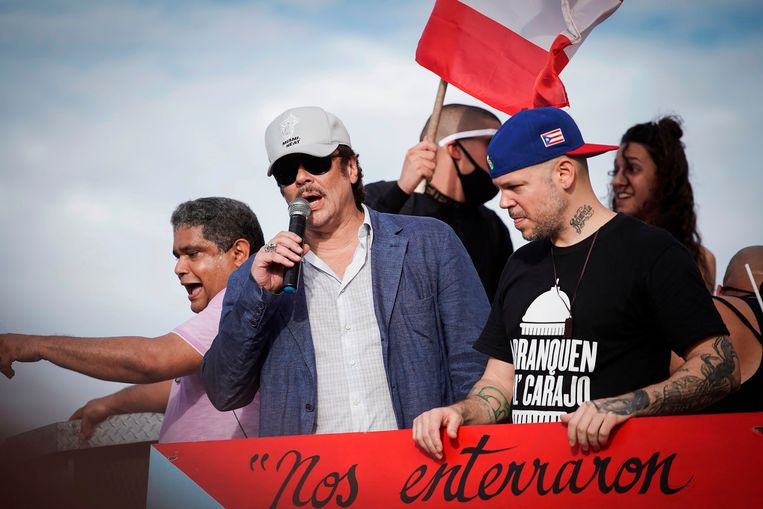Acteur Benicio del Toro en rapper Rene Perez aka Residente.