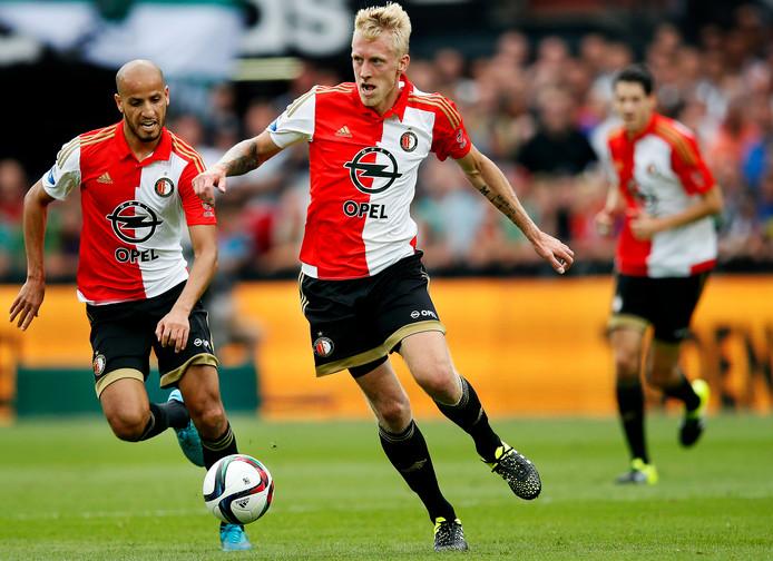 Lex Immers als Feyenoorder. Links Karim El Ahmadi.