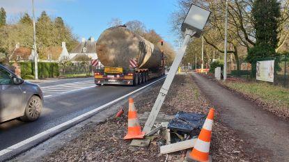 Flitspaal kapot na verkeersongeval