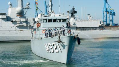 Grote militaire oefening voor Belgische kust pas begonnen en mijnenjager stoot op échte bom van 1.000 kilo