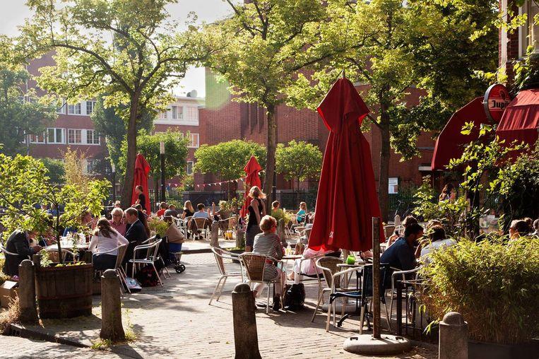 Het plein voor de deur van Café Cook is perfect voor een kerstmarkt Beeld Café Cook