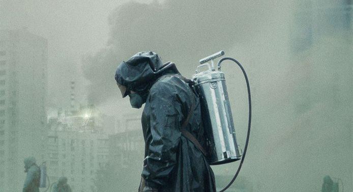 Een beeld uit de serie 'Chernobyl'.