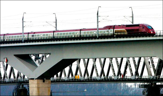 Het spoor van de HSL-Zuid tussen Rotterdam en de Belgische grens