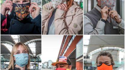 Mondmaskers verplicht op het openbaar vervoer: veel pendelaars met een uniek exemplaar in Leuven station