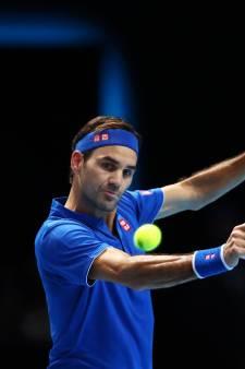 Federer na setwinst bij laatste vier ATP Finals