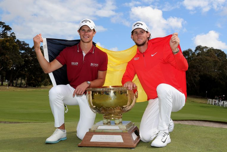Wereldkampioenen! Thomas Detry en Thomas Pieters gaven België een nieuw golfelan.