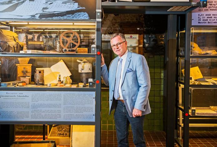 Directeur Arjen van Wijngaarden van het verzetsmuseum Gouda
