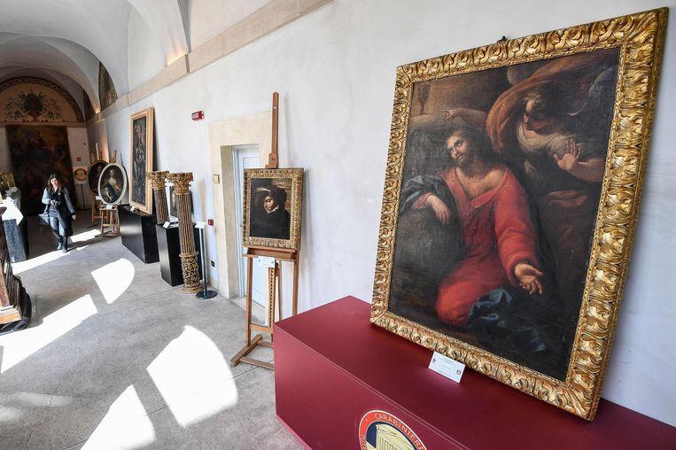Onder meer het werk 'Cristo prega nell'orto' van Guido Reni werd teruggevonden.