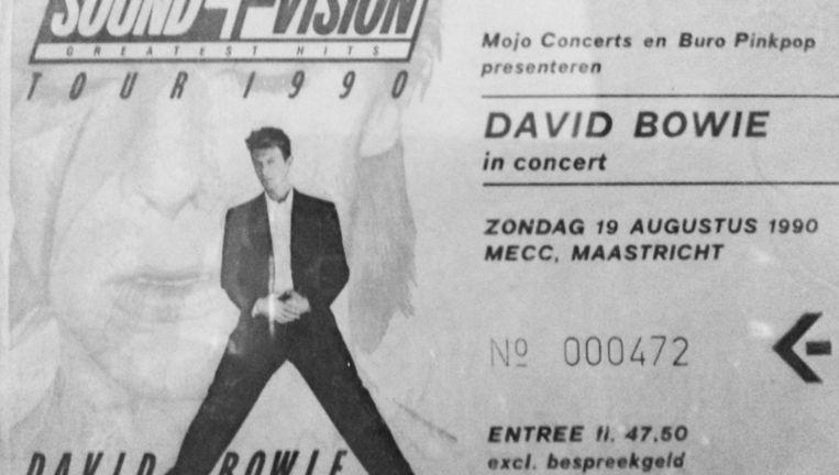 Kaartje David Bowie in Maastricht. Beeld