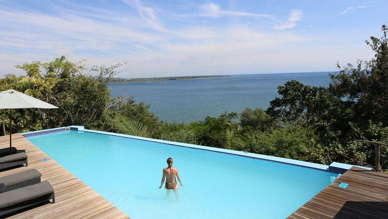 Pumulani lodge aan het Malawimeer. Beeld