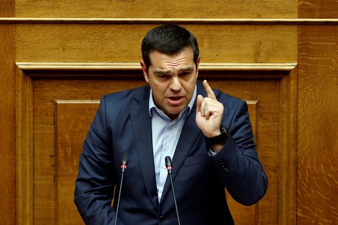 De Griekse premier Alexis Tsipras.
