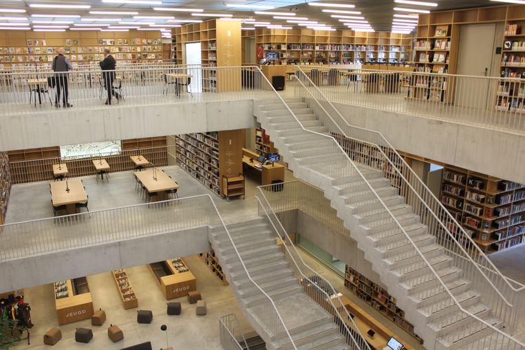 Het imposante atrium van bibliotheek Utopia, zonder meer het paradepaardje van het laatste jaar van deze legislatuur.