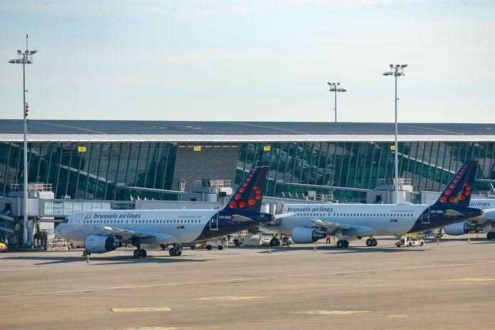 Appareils de Brussels Airlines à l'aéroport de Zaventem