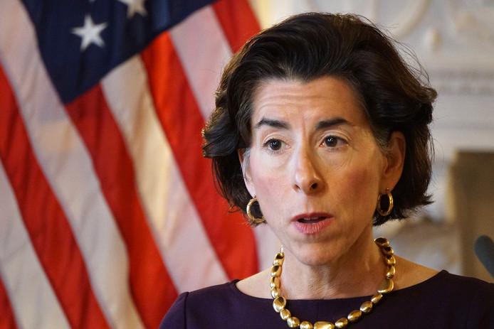 Gouverneur Gina Raimondo van Rhode Island.
