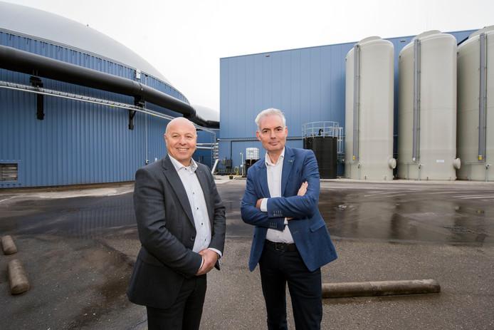 Bio energie centrale Harderwijk (BECH) met Douwe Jan Tilkema, directeur Bech, Henk van de Vossen, aandeelhouder Bech.