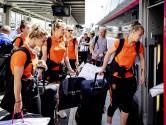 Fotoreeks: Leeuwinnen met trein naar kwartfinale