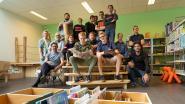 Leerlingen houtbewerking pimpen bib tot hippe ontmoetingsplek met paalwoning