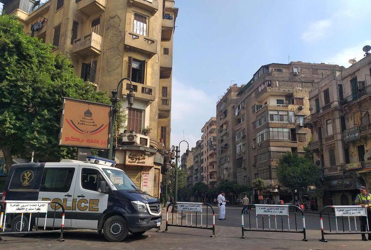 De toegang tot het Tahrirplein wordt nu uit voorzorg geblokkeerd.