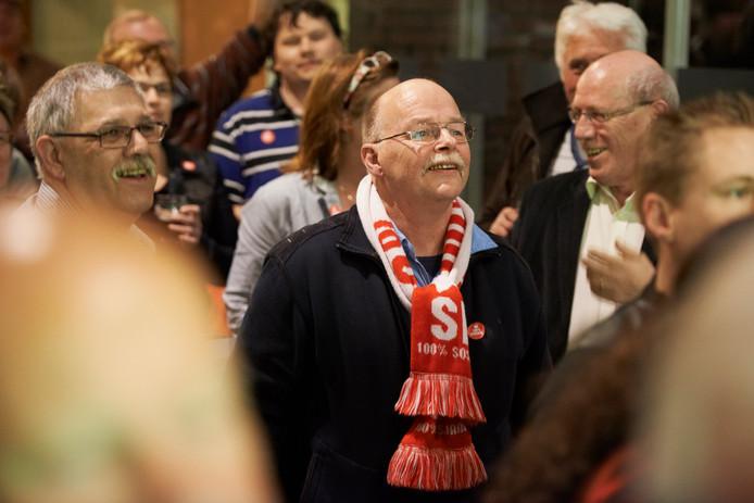 Spencer Zeegers (met sjaal)