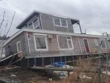 Storm Dennis raast over Brabant: woonboot zinkt, vrouw zwaargewond, dak Gruyterfabriek opgetild