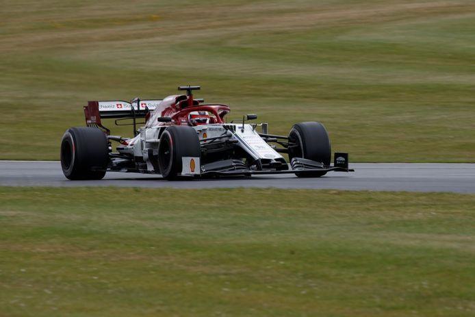 Kimi Räikkönen in zijn Alfa Romeo.