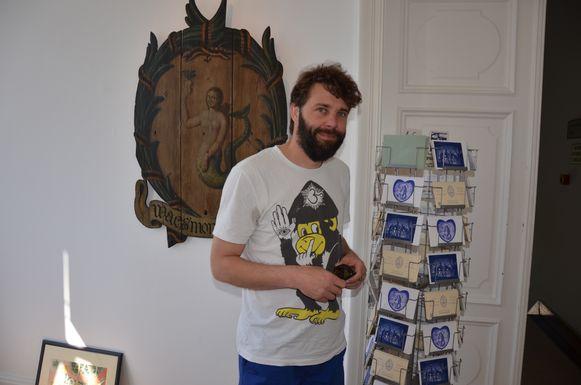Wim Wauman is de bezieler van het kunstenaarscollectief 'Blauwhaus'.
